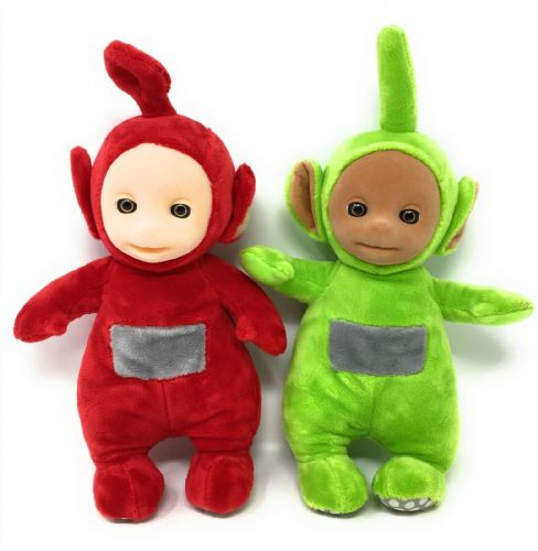 Teletubbies SET OF 2 Official TALKING Soft Toys - DIPSY & PO - NO TAGS